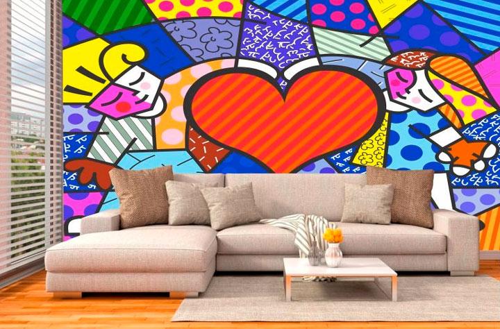 Decoração Romero Britto sala de estar