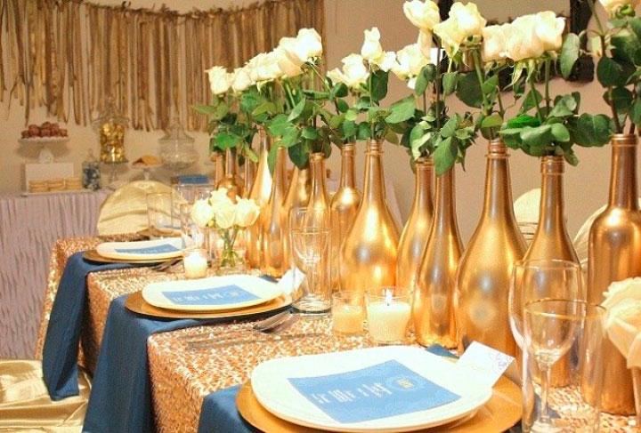 Decoração bodas de ouro