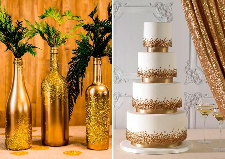 Bodas de ouro ideias de decora o para uma festa inesquec vel - Chique campagne ...