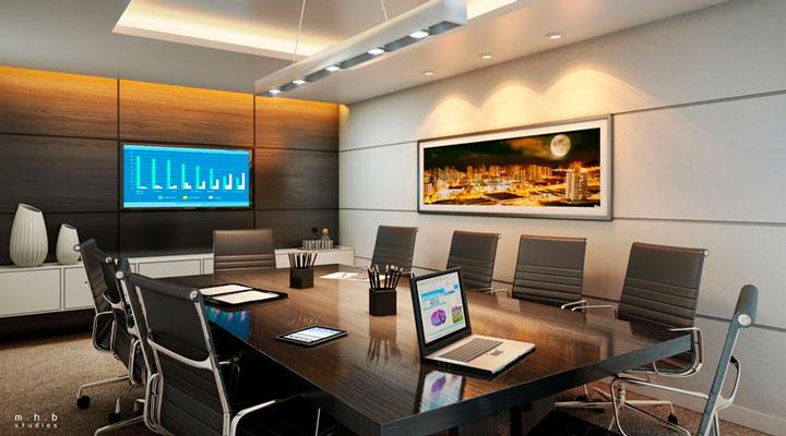 Decoração sala reunião