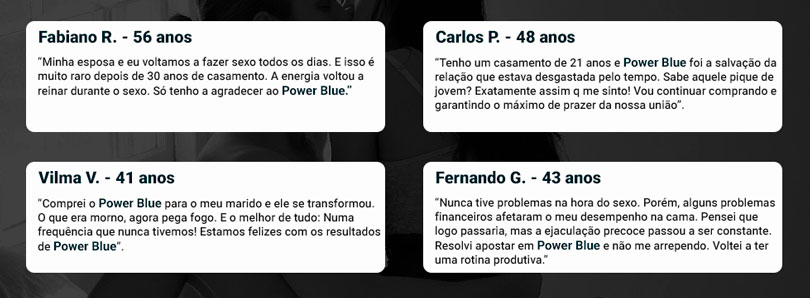 Power Blue depoimentos