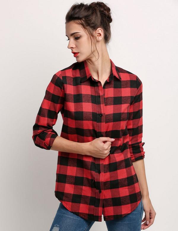 Camisa xadrez feminina: 15 looks com e dicas para vestir