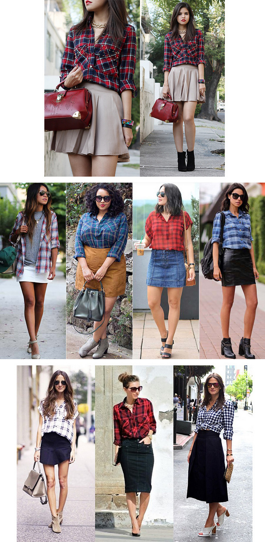 6c1277ab30 Camisa xadrez feminina  15 looks com e dicas para vestir - Tudo Ela