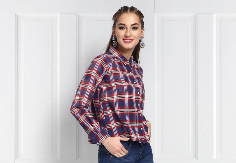 f8dde5dd3 Camisa xadrez feminina  15 looks com e dicas para vestir - Tudo Ela