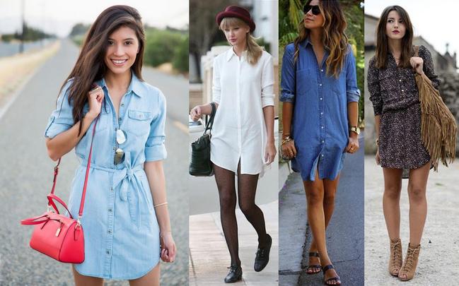 Vestido chemise jeans como usar