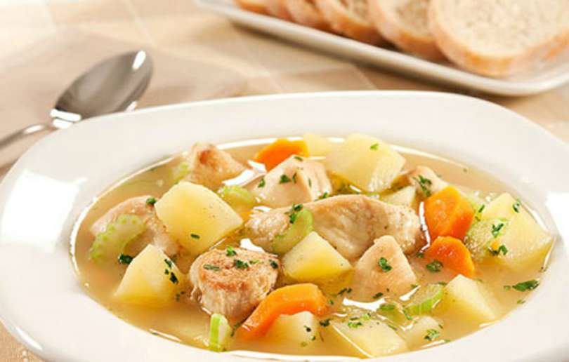 Como fazer sopa de legumes com frango