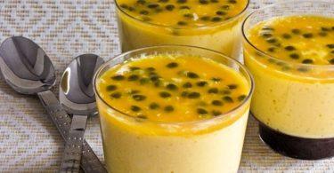 Receita de mousse de maracujá com gelatina