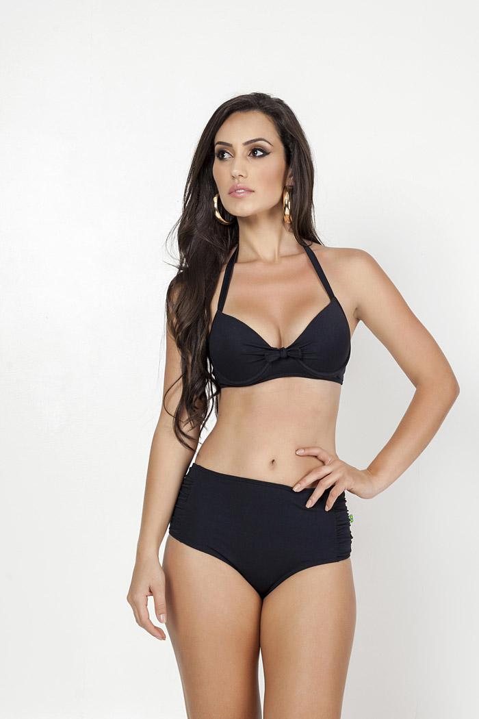 f4137b0da Biquíni cintura alta liso. Essa modelagem é perfeita para aquelas mulheres  que gostam de combinar peças diferentes de biquíni. No caso dos biquínis em  cores ...