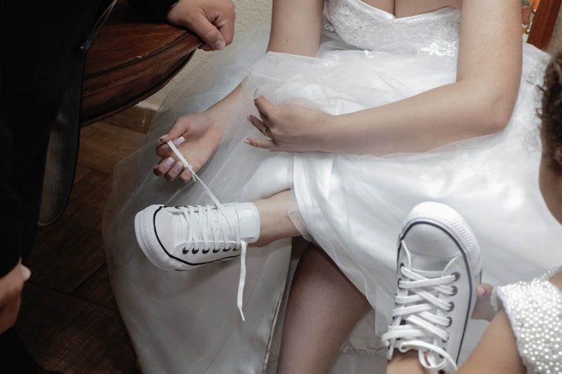 Tênis de noiva