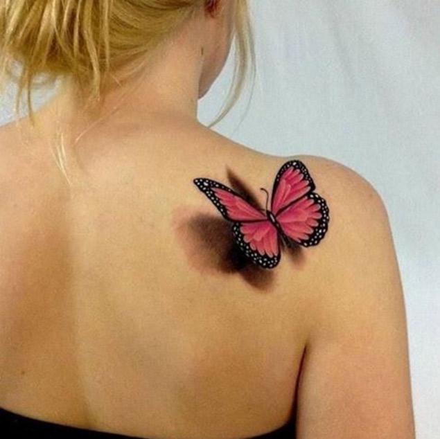 Tatuagem de borboleta 3d