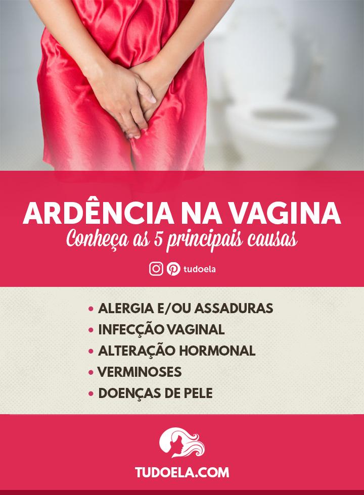 Ardência na Vagina: 5 principais causas [Infográfico]