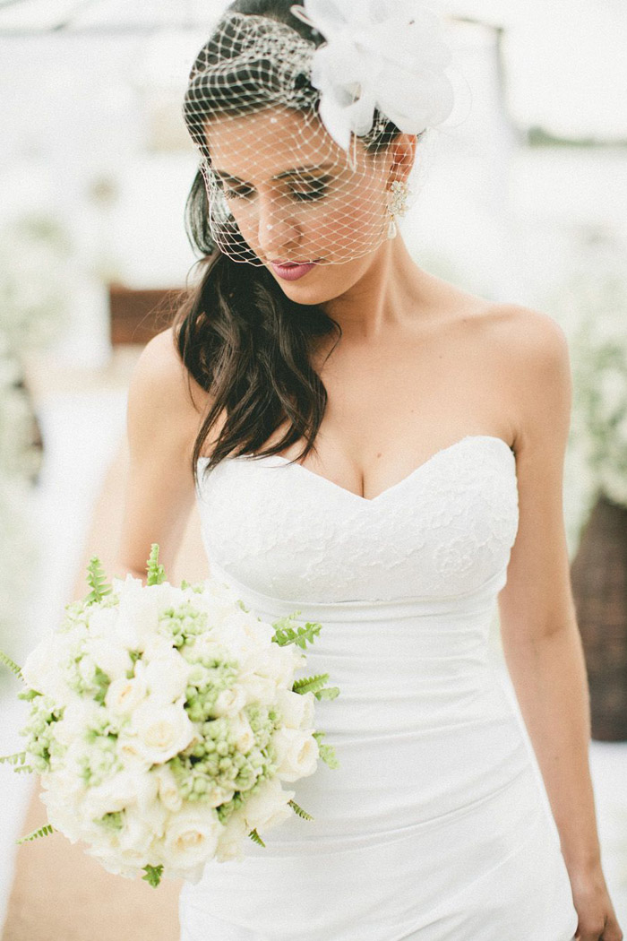 Casquete para noivas