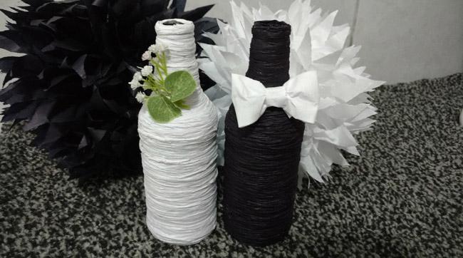 Decoração com papel crepom para casamento