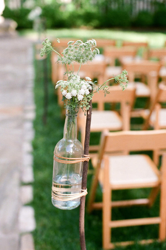 Garrafas decoradas para casamento