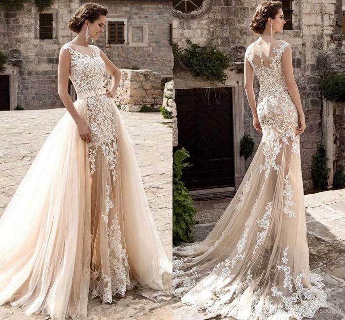 Vestidos de noiva Champanhe