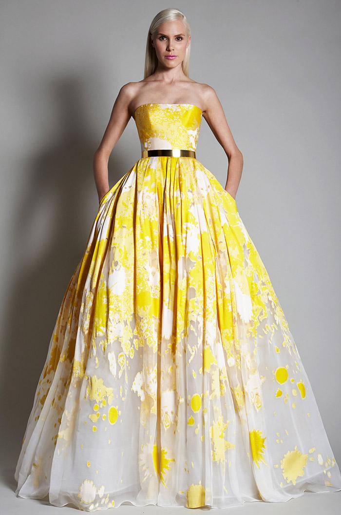 Vestido de noiva amarelo