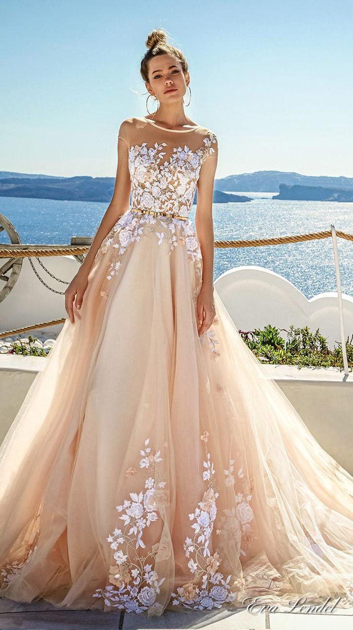 Vestidos de noiva coloridos