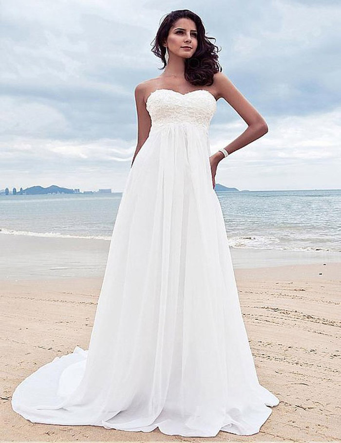 Vestidos de noiva para casamento na praia