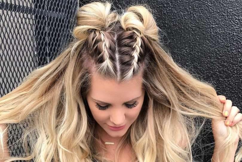 9649c299d2 Cabelo semipreso  veja 8 penteados fáceis para usar em festas ou no dia a  dia