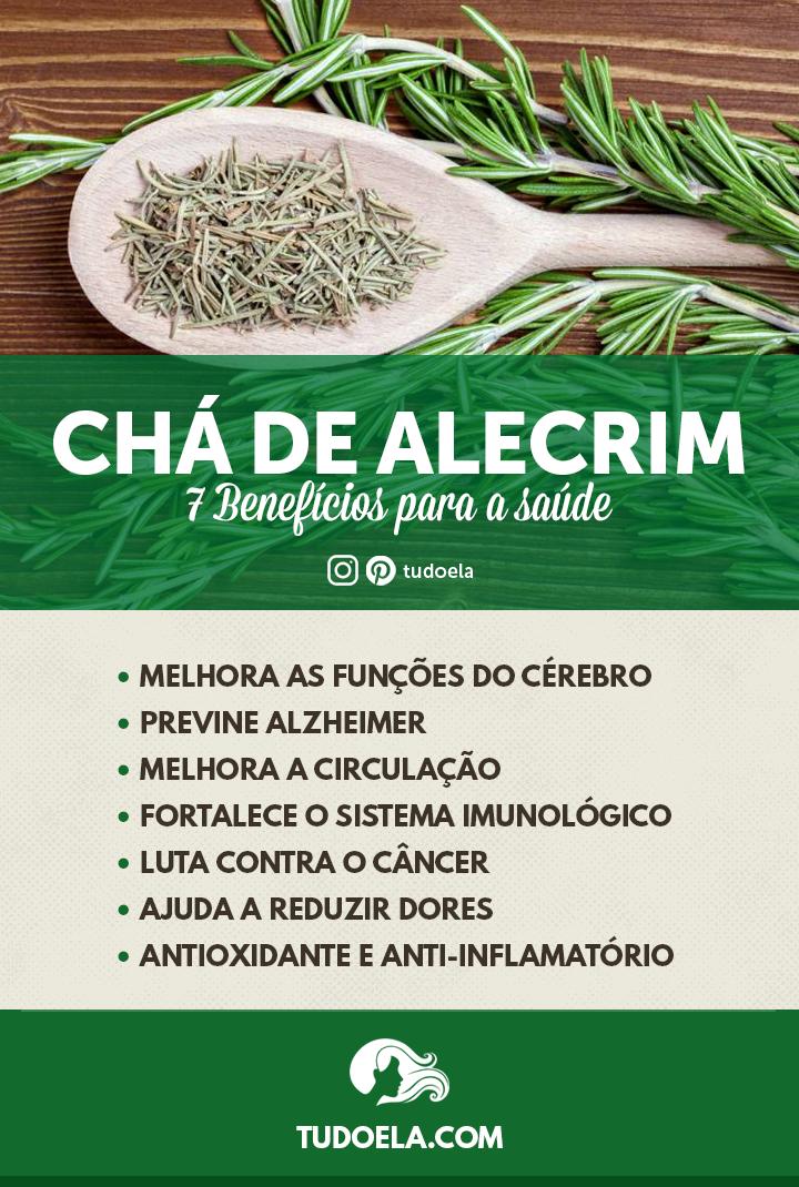 Chá de Alecrim: 7 benefícios para a saúde [Infográfico]