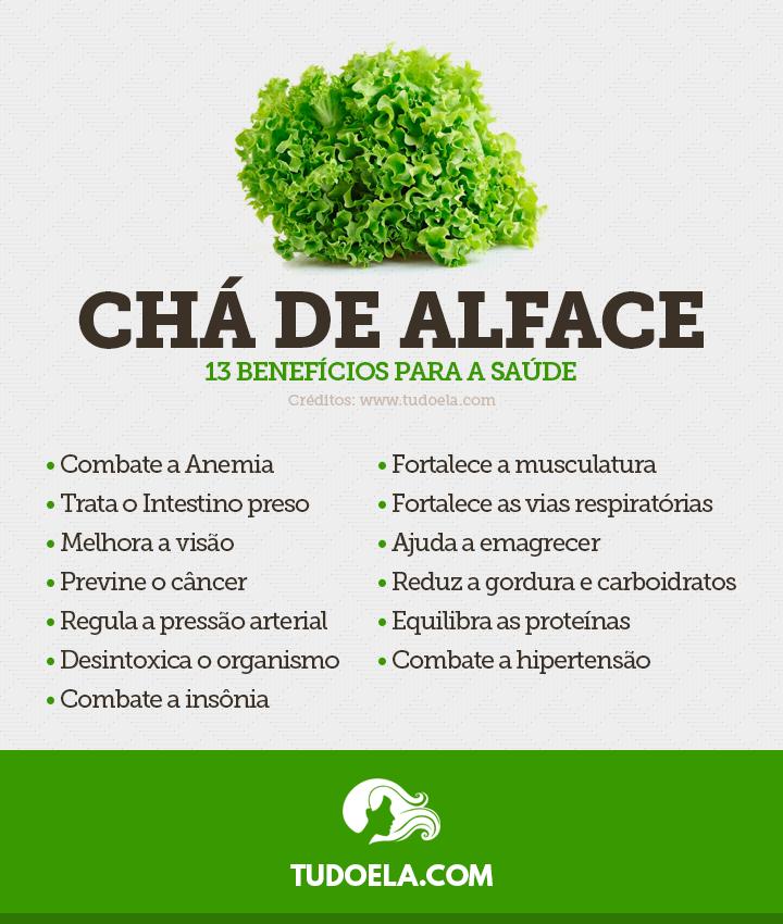Chá de Alface: 13 benefícios para a saúde [Infográfico]