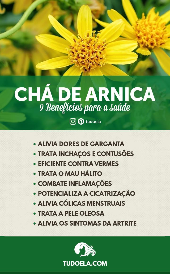 Chá de arnica: 9 benefícios para a saúde [Infográfico]