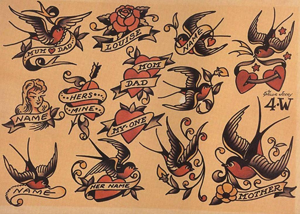 Tatuagem Old School Origem Desenhos E Significados Para Se Inspirar