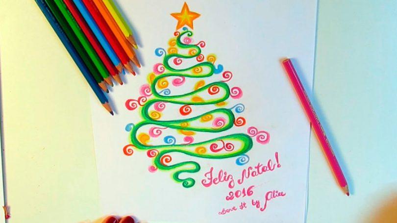 Como Desenhar Uma Arvore De Natal Com Essas 4 Dicas Tudo Ela