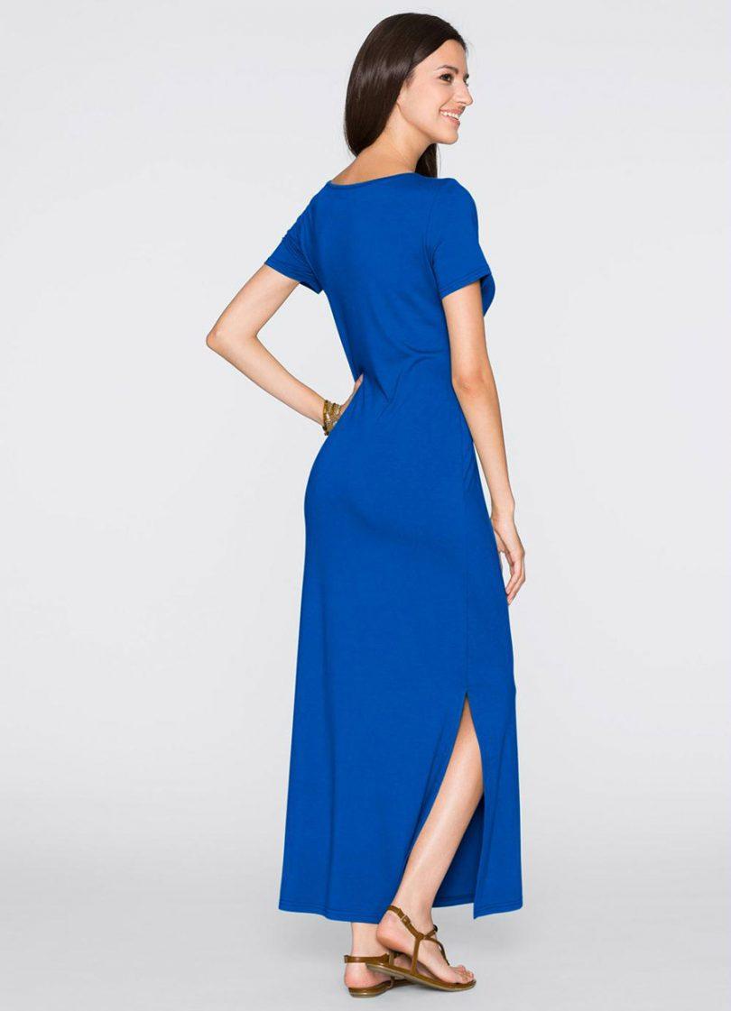 Looks com vestido longo azul