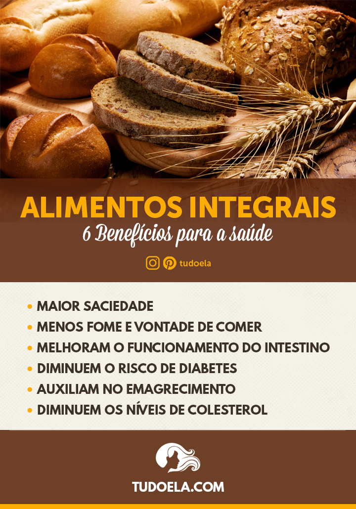 Alimentos Integrais: 6 benefícios para a saúde [Infográfico]