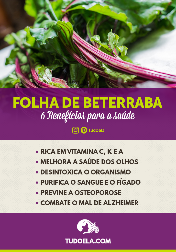 Folha de Beterraba: 6 benefícios para a saúde [Infográfico]