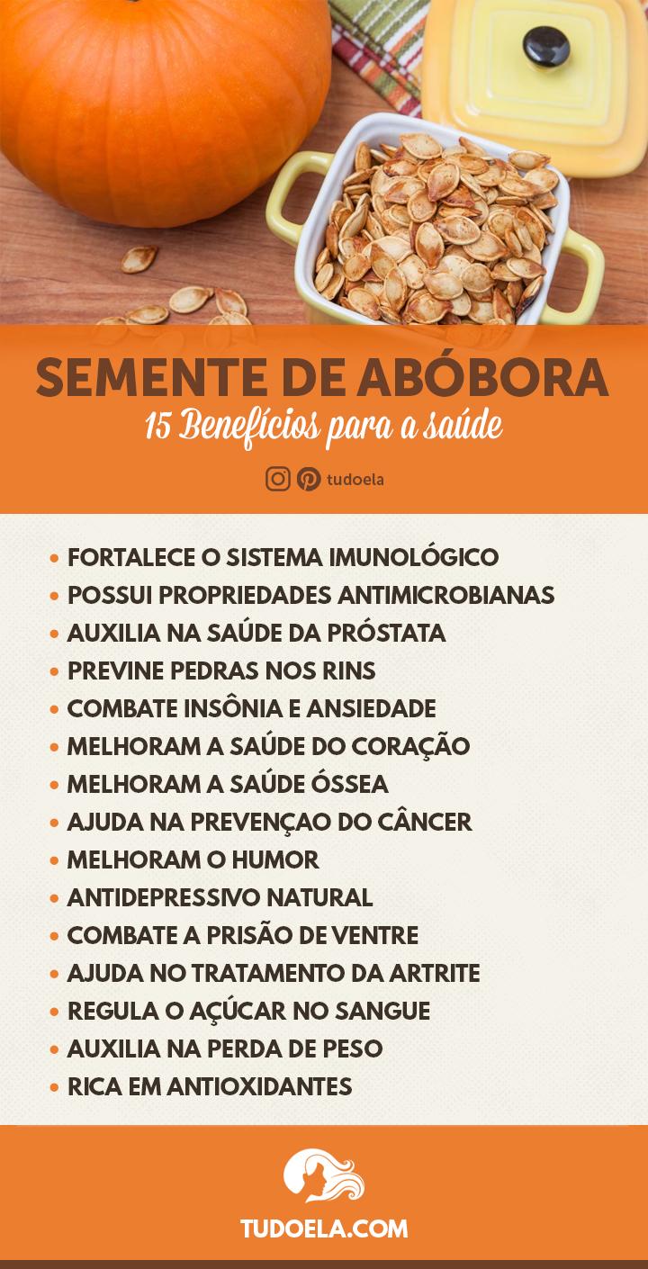 Semente de Abóbora: 15 benefícios para a saúde [Infográfico]