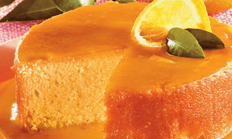 Como fazer bolo de laranja com calda