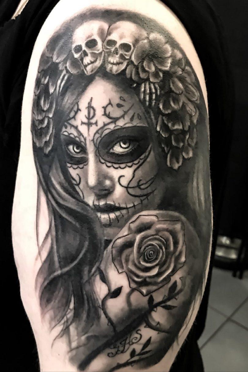 Tatuagem De Catrina Descubra O Significado E Veja Estilos Para