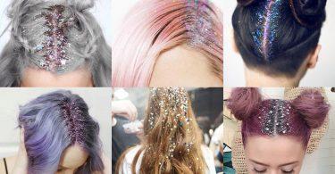 Como aplicar glitter no cabelo para o Carnaval