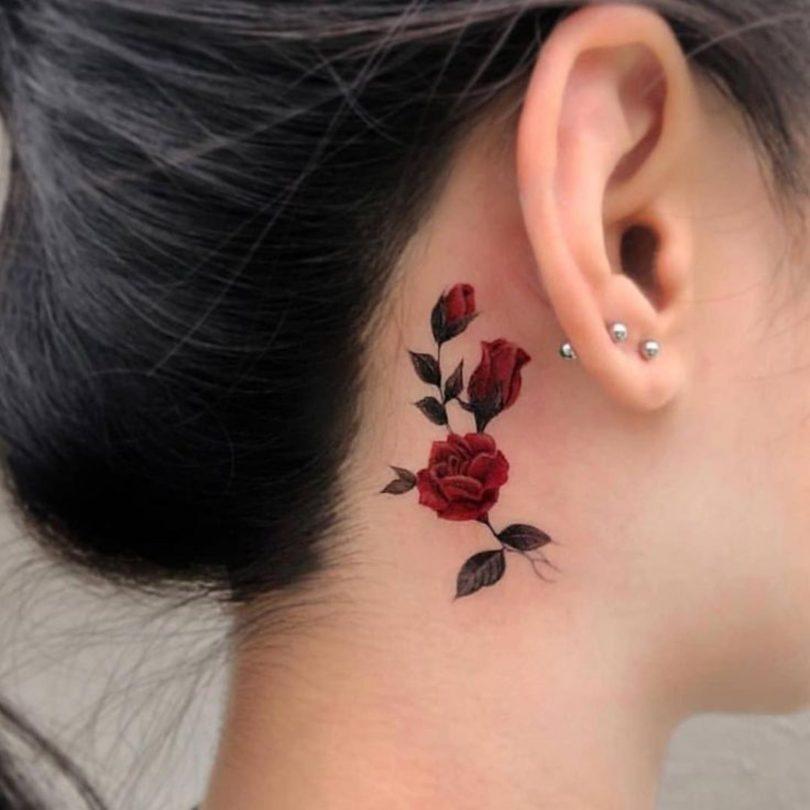 Tatuagem Atrás Da Orelha Veja Dicas Fotos Para Apostar